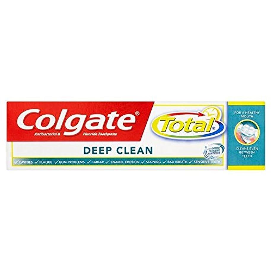 牧師違反する主要なコルゲートトータル深いクリーン歯磨き粉75ミリリットル x2 - Colgate Total Deep Clean Toothpaste 75ml (Pack of 2) [並行輸入品]