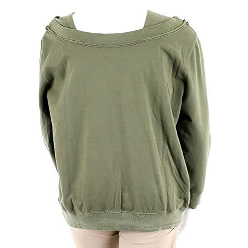 46 Col Sweatshirt Grande Femme Ahorn Kaki Kangourou Bateau Taille Poches FIwzB1qBW
