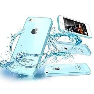 ZXM- TPU transparente con enchufe del polvo del nuevo caso para el iPhone 5/5S (colores surtidos)