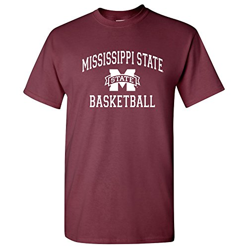 - UGP Campus Apparel AS1096 - Mississippi State Bulldogs Arch Logo Basketball T Shirt - Small - Maroon