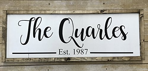 Custom Name and Established Year Front Door Sign (Established Year)