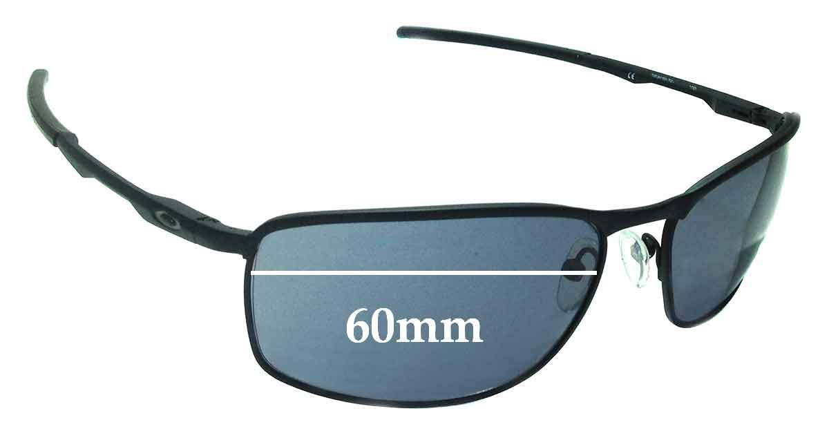 20f84fc2f9 Amazon.com  SFx Replacement Sunglass Lenses fits Oakley Conductor 8 OO4107  60mm Wide (Polycarbonate Clear Hardcoat Pair-Regular)  Clothing
