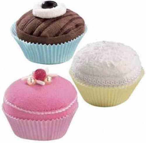 [HABA Biofino Sweet Trio Muffins - 3 Fabric Cupcakes in Round Presentation Box] (Tea Cake Costume)