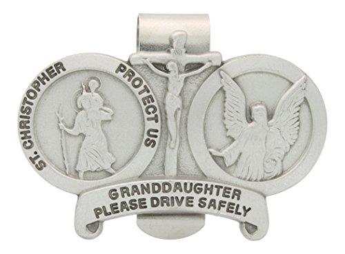 St christopher visor clip granddaughter