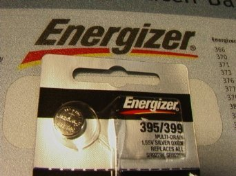 Energizer 395-399TS BUTTON CELL BATTERY 399 OXIDE