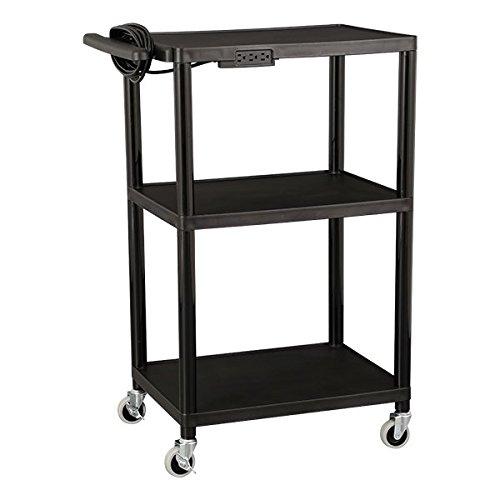 norwood-commercial-furniture-nor-oug1042-so-adjustable-height-mobile-black-plastic-utility-av-cart-w