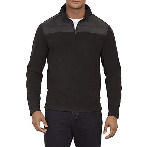 - Kenneth Cole New York Quarter Zip Blocked Fleece Sweater