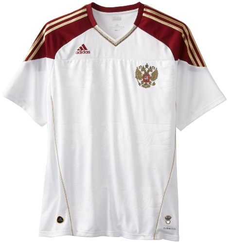 Russia Away Jersey, White/Cardinal, Small