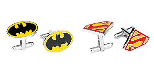 DC+Comics Products : Superheroes DC Comics Superman and Batman Logos (2 Pair) Cufflinks