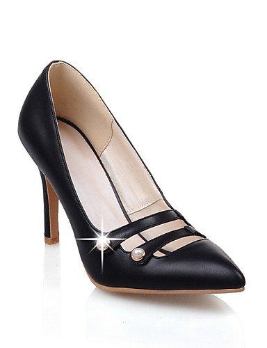 GGX/Damen Schuhe PU Sommer/spitz Toe Heels Büro & Karriere/Casual Stiletto Heel Nachahmung Pearl schwarz/pink/rot/beige red-us8 / eu39 / uk6 / cn39