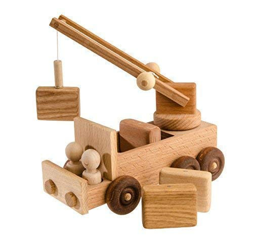 Organic Wooden Toy Car - Eco Friendly and Safe Fun for Children, Truck Crane Toy, Baby Toy, Wooden toy for babies