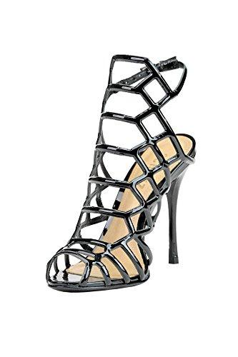 Sandalias Schutz Para Mujer Mcglcat03274e Cuero Negro