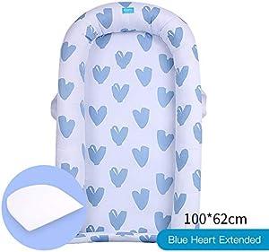 Baby nest Pod Newborn Sleepyhead 100% Cotton Bed Medi Partners Pillow Accessories Cocoon for Babies/Blue