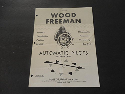 Vintage Ad Wood Freeman Automatic Pilots Model 423-P Feb 1962 Cat #4
