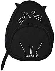 Junior Students Schoolbag Cute Kitty Personality Cotton Shoulder Bag Backpack
