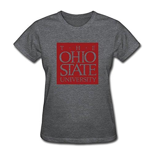 TIANYI Design Women The Ohio State University Tee Shirts SizeXS ColorDeepHeather