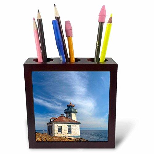 3dRose Danita Delimont - Lighthouses - Washington, San Juan Island, Lime Kiln Point Lighthouse. - 5 inch tile pen holder (Lime Kiln Lighthouse)