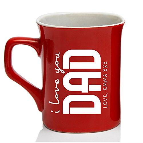 I Love You Dad Mug Personalized Coffee Mug For Father - Mug for Dad Birthday Customize with Name | Mother Day Gifts Keepsake Housewarming Gift #34 ()