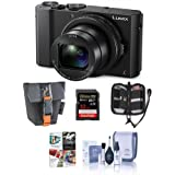 Adorama Panasonic Lumix DMC-LX10 Digital Camera, 20MP 1 Sensor - Bundle with 32GB SDHC U3 Card, Camera Case, Cleaning Kit, Memory Wallet, Software Package