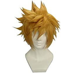 "Tengs12.6"" layered Blonde Cosplay Wig -- Ventus Kingdom Hearts"