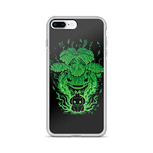 iPhone 7 Plus/8 Plus Pure Clear Case Cases Cover Evolution of-Grass Bulbasaur Anime Video Game -