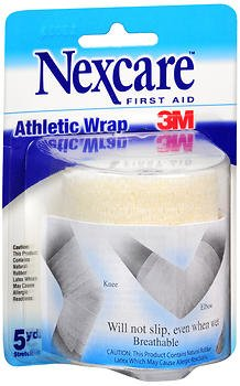 Nexcare Athletic Wrap, White - 3 Inches X 2.2 Yards, Pack of 2 (Wrap Nexcare Athletic)