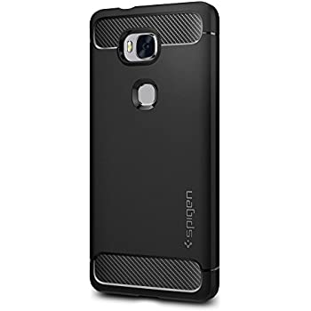 Spigen Rugged Armor Honor 5X Case with Resilient Shock Absorption and Carbon Fiber Design for Huawei Honor 5X - Black