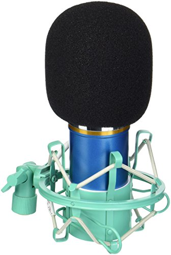 DragonPad USA Pro Condenser Sound Recording Microphone + Mic Shock Mount Bundle for radio broadcasting studio, voice-over sound studio, Recording, Bands and More (Blue) - Voice Over Package
