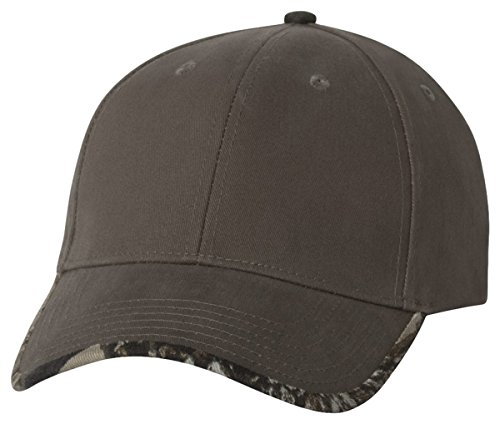 Kati Solid Cap with Camouflage Bill, Olive/ Realtree Hardwood HD, ADJ