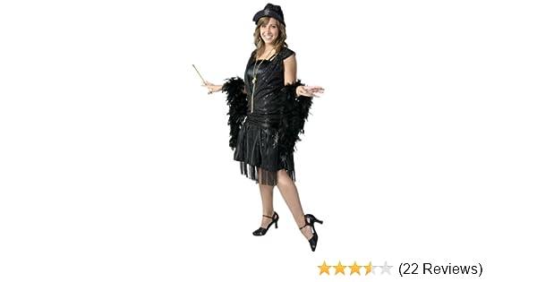 06f9e250210 Amazon.com  FunCostumes Plus Size Black Jazz Flapper Costume  Clothing