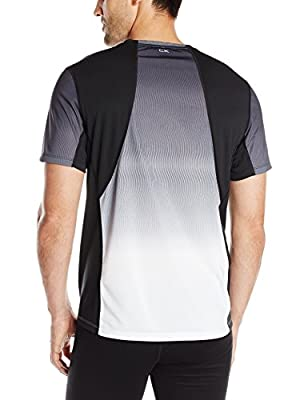 Calvin Klein Men's Performance Short Sleeve Gradient Print Tee with Mesh Panels