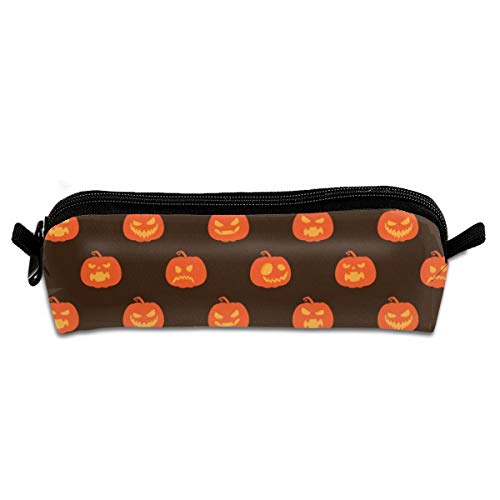 Diemeouk Pencil Case Pumpkin Pattern Zippered Pen Bag Cosmetic Makeup Bags for Colored Watercolor -