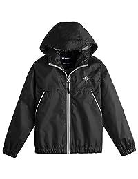 Wantdo Boy's Lightweight Rain Jacket Casual Active Outdoor Hooded Jacket