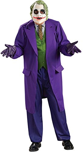 [Batman The Dark Knight Deluxe The Joker Costume, Black/Purple, Plus Size] (Joker Costumes Dark Knight Halloween)