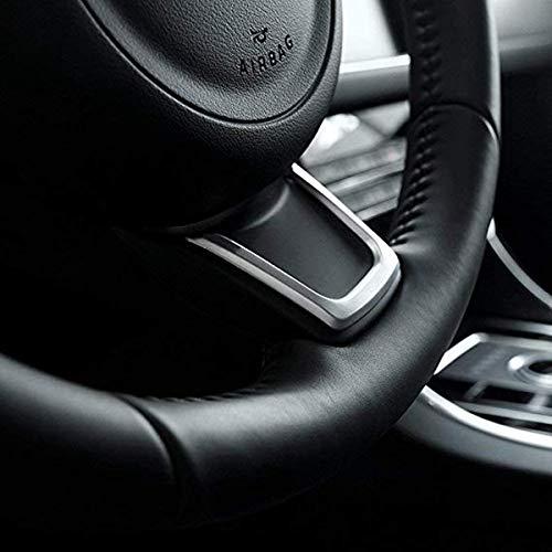Oritech pour Jaguar XE XF F-Pace E-Pace 2016-2018 Volant Int/érieur ABS Argent Mat Garniture Paillettes Accessoires Voiture