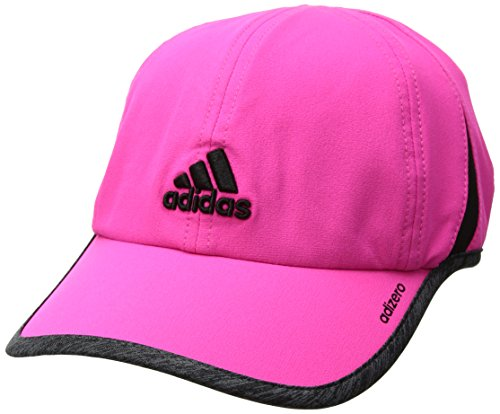 adidas Women's Adizero Ii Cap, Shock Pink/Dark Grey Heather/Black, One - Cap Lightweight Stretch