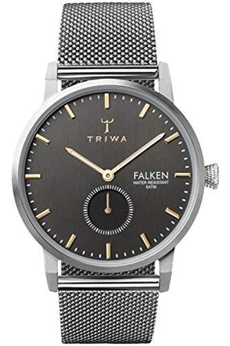 Triwa falken Unisex Analog Japanese Quartz Watch with Stainless Steel Bracelet FAST119ME