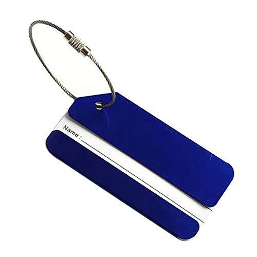 carta da bagaglio Etichette per viaggio Balight per d'identità blu valigia semplice oro accessori stile gUqzzw