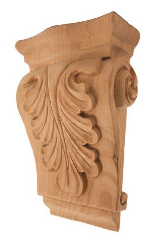 Corbel Series - Low Profile Acanthus Wood Corbel 3-1/2