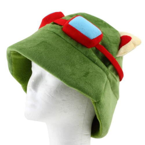 Alicenter(TM) LOL league of legends Teemo One Size Cosplay Party Warm Hat Army Green New