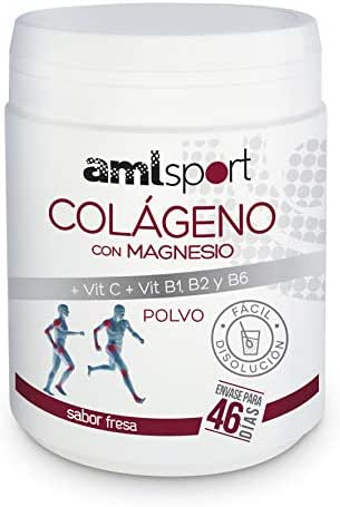Collagen with Magnesium and Vitamins C, B1, B2 and B6, AML Sport, Strawberry Flavour   46 Days / 350g