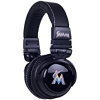 BiGR Audio MLB Licensed Over-ear Headphones with Mic, Miami Marlins