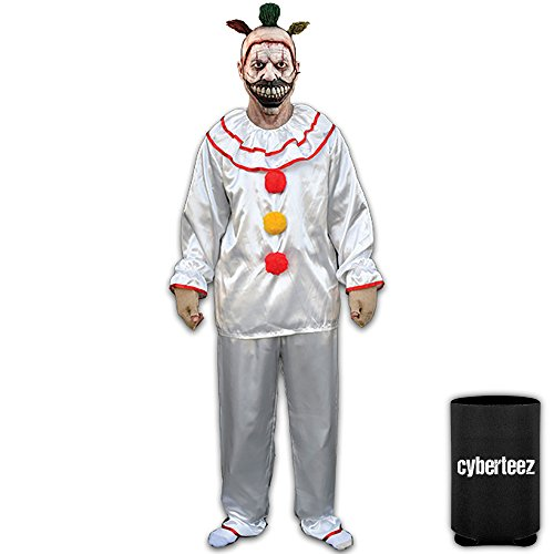 [Twisty The Clown American Horror Story Men's Costume + Can Coolie] (Twisty The Clown Costume Mask)
