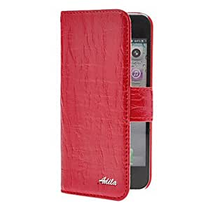 Fashionable Adila Willow Stripe Pattern Solid Color Full Body Case with Card Slot for iPhone 5/5S Back Case (s) ,Color: Rose