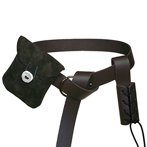 leather belt pouch medieval - 4