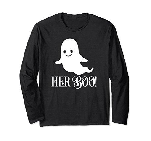 Her Boo Halloween Couples Cute Ghost Long Sleeve Shirt -