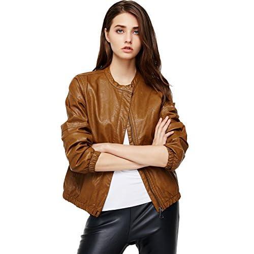 XX-Large, Black/_2 LEATHER FARM Womens Lambskin Leather Bomber Biker Jacket