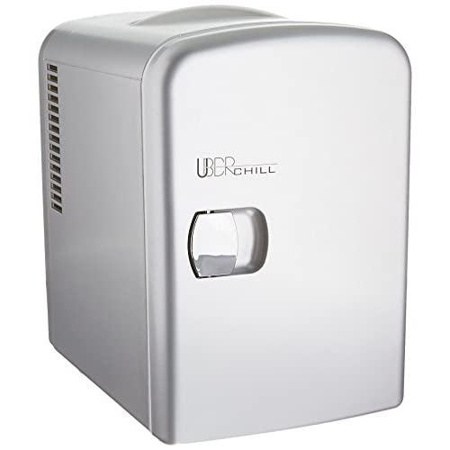 Uber Appliance UB-CH1 Uber Chill Mini Fridge 6-can portable Thermoelectric Cooler and Warmer mini fridge for bedroom, office...
