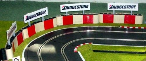 Slot Track Scenics TC-R Tyre Covers x5 Red Blocks for Scalextric