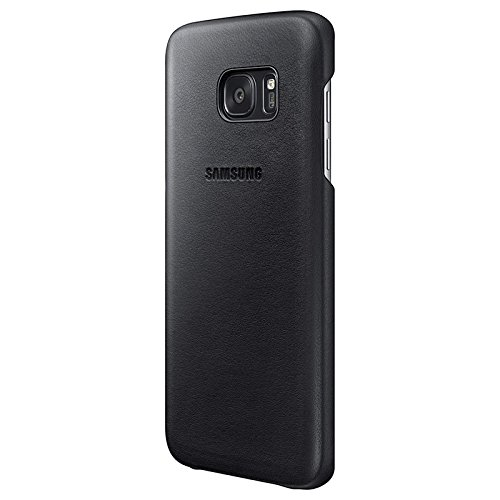 cheap for discount 9e931 64fe8 Genuine Samsung Leather Case Back Cover for Samsung Galaxy S7 edge - Black  (EF-VG935LBEGWW)